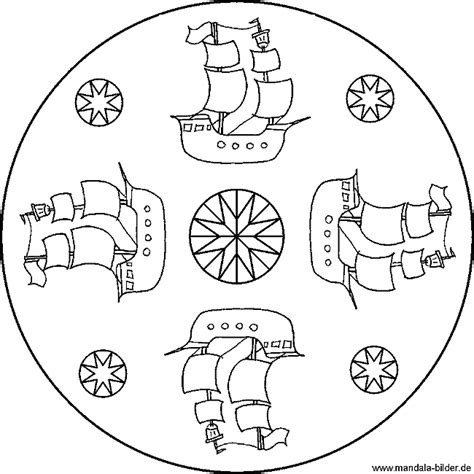 mandala piratenschiff zum ausdrucken und ausmalen