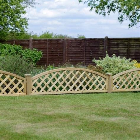 2ft Trellis Fence Panels by Grange Madeley Convex Dome Trellis 2ft Garden