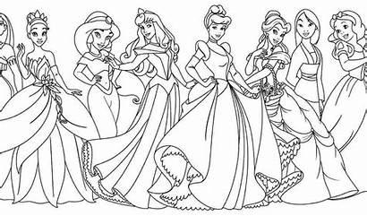 Disney Pages Coloring Princess Princesses Colouring Printable