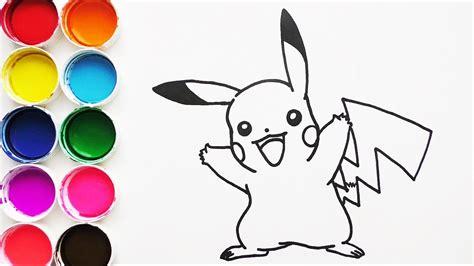 Dibuja y Colorea Pikachu de Pokemon Dibujos Para Niños