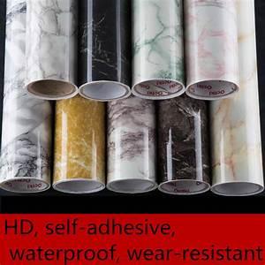 Imitation marble stickers PVC self adhesive wallpaper ...