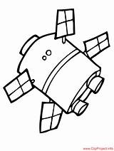 Satellite Coloring Pages Space Sheet Sheets Children Drawings 84kb 973px sketch template