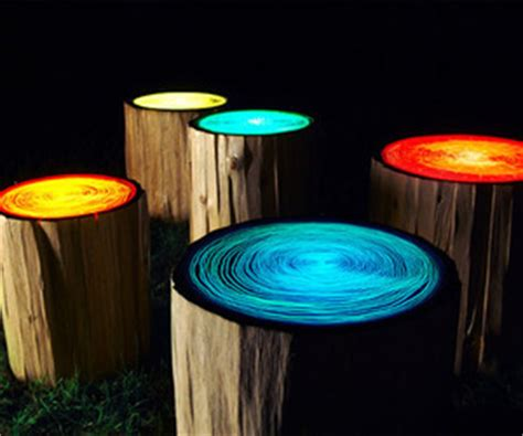 tree stump lights straight  designs