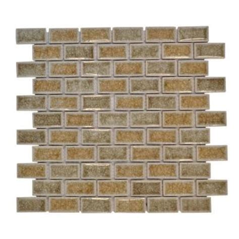Jeffrey Court Silver Screen Mosaic Tile by Jeffrey Court 12 In X 12 In Silver Quill Crackle Glass