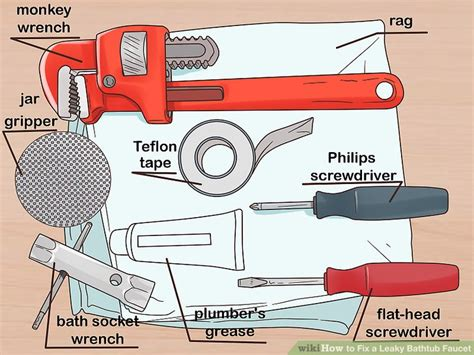 Fixing Leaky Tub Faucet by How To Fix A Leaky Bathtub Faucet With Pictures Wikihow