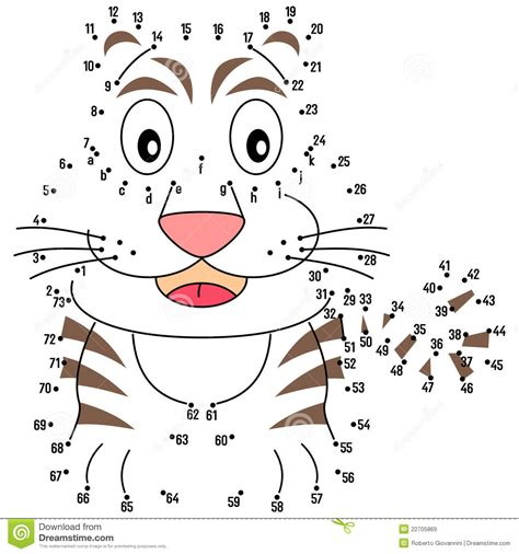 Connect The Dots Tiger Royalty Free Stock Images Image