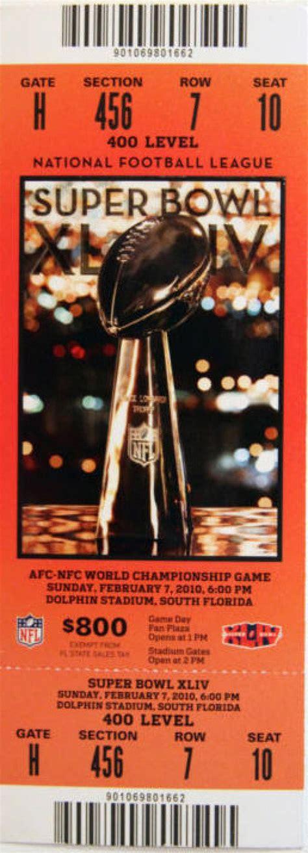 Super Bowl Xliv Saints 31 Colts 17 Photos Tickets