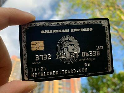 The centurion card from american express, also referred to as the amex black card, is a former charge card that comes with an initiation fee of $10,000 and an annual membership fee of $5,000. Collect Amex Black Card Customizable American Express Centurion Metal Black Card | eBay
