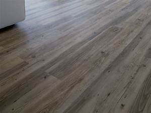 vinyl flooring with wood effect creation clic system With parquet gerflor