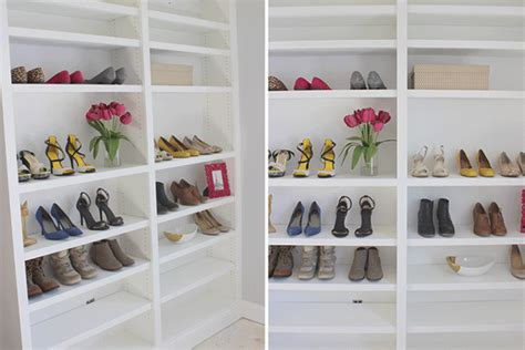 Shoe Storage Bookcase by How To Build Adjustable Built In Bookshelves For Shoe
