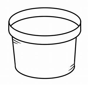 Plant pot clipart black and white
