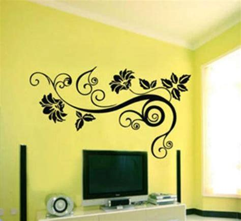 wall decor stickers flowers home designs wallpapers
