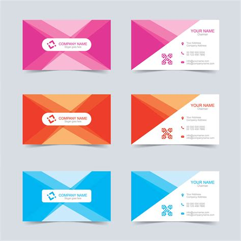 Free Card Templates by Vector Business Card Template Free Wisxi