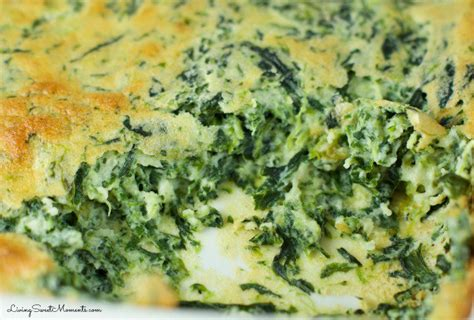 spinach souffle easy spinach souffle recipe living sweet moments