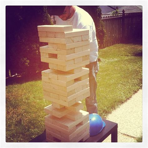 backyard jenga what i m loving today make your own jenga board