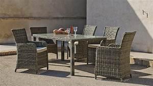 Salon De Jardin Beige : salon de jardin r sine riviera 4 places avec coussins beige fonc meubles de jardin ~ Teatrodelosmanantiales.com Idées de Décoration