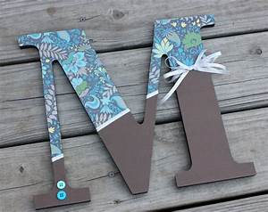 custom wooden letters wall hanging 12 inch teal blue and With custom made letters for wall