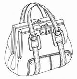 Bag Drawing Sketches Handbag Drawings Purses Illustration Bags Flat Sketch Handbags 3d Pumpkin Double Draw Framed Leather Tote Rourke Emily sketch template