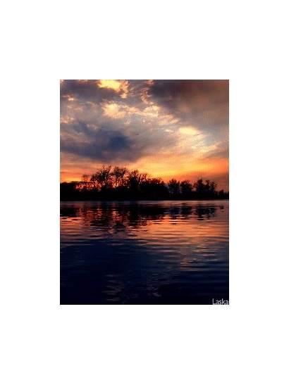 Gifs Countryside Amazing Reflection Sun Moving Water