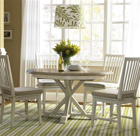 coastal beach white oak  dining room set zin home