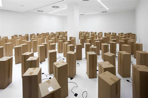 Sound & Art Installation Out of Cardboard Boxes   Design Milk