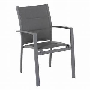 Chaise Et Fauteuil De Jardin : fauteuil de jardin empilable azua ardoise chaise et fauteuil de jardin eminza ~ Teatrodelosmanantiales.com Idées de Décoration