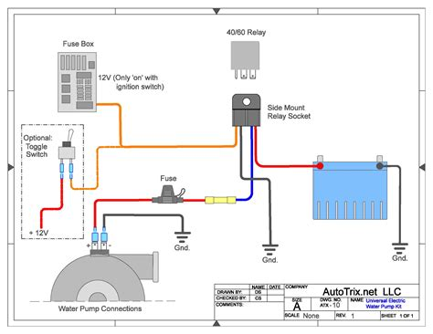 Wiring Diagram For Water by Autotrix Universal Electric Water Relay Install