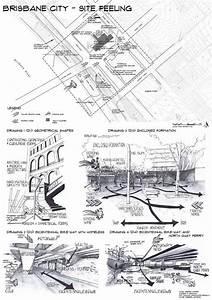 Site Analysis 1of4 Brisbane Cbd Hand Drawn By Debbie Turner