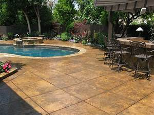 Stamped concrete nh ma me decorative patio pool deck for Pool deck ideas made from concrete