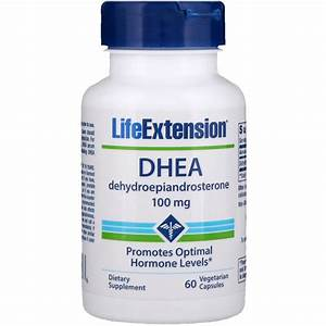 Life Extension  Dhea  100 Mg  60 Vegetarian Capsules
