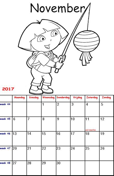 Kleurplaat 17 Jaar by Kleurplaten Voor Kinderen Kalender 2017