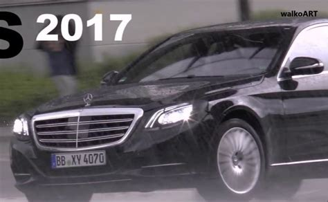 New S Class 2017 by 2017 Mercedes S Class Facelift Spotted Testing Again