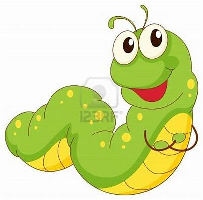 Caterpillar Clipart Worm Cartoon Straight Illustration Vector