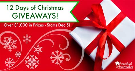 12 days of christmas giveaways proverbial homemaker