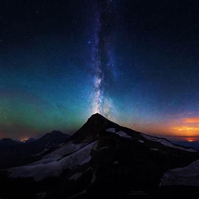 Sky Night Milky Aurora Way Mountain Nature