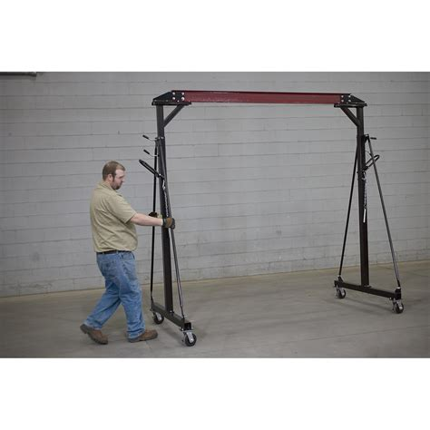 northern tool adjustable floor northern industrial adjustable gantry crane 2000 lb cap