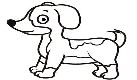contoh gambar gambar mewarnai hewan anjing