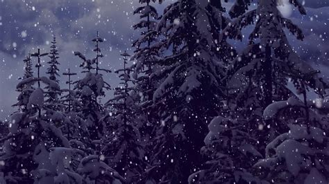 Aesthetic Winter Wallpaper snow falling motion effect background