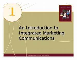 Chap01 An Introduction To Integrated Marketing Communications