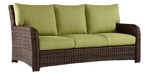 fiji resin wicker pillow  outdoor patio sofa