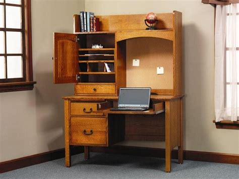 desk with storage amish rivertowne 48 quot desk with storage hutch top and corkboard