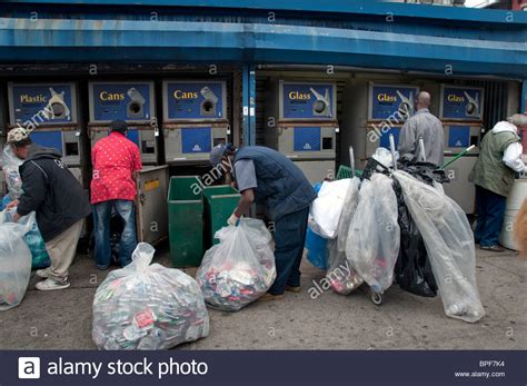 Can And Bottle Recycling Center In Harlem New York City Where Stock Photo, Royalty Free Image