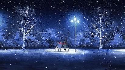 Aesthetic Snow Night Gifs Want Anime Kar