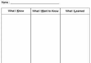 kwl chart templates to download or modify online With kwl chart template word document