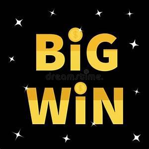 Big Win Banner. Golden Text Dollar Sign Gold Coin ...