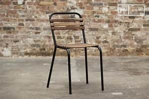 Chaise Industrielle Metal : chaise industrielle mistral chaise bois et m tal pib ~ Teatrodelosmanantiales.com Idées de Décoration