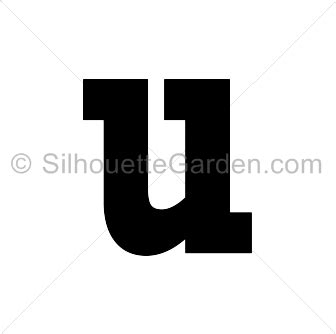 lowercase u clipart lowercase letter u silhouette