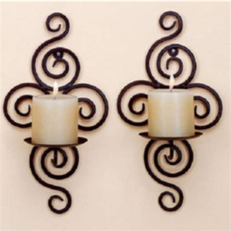 candle holder wall hanging sconce furnishing articles handmade iron alex nld