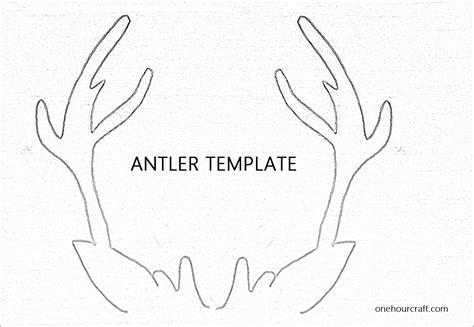 reindeer template cut out 6 best images of antler pattern printable free reindeer antler template printable reindeer