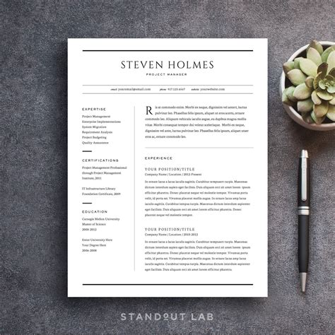 How To Make My Resume Title Stand Out by Resume Template And Cover Letter Template Professional Design